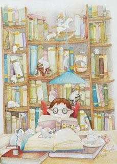 Topi di biblioteca - illustrazione - Daniela Scarpa