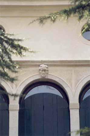 Villa Simion: facciata nord, particolare