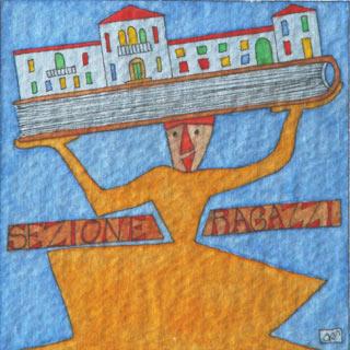 Illustrazione per il logo della Sezione Ragazzi - Oreste Sabadin