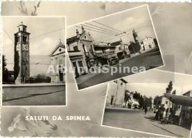 Foto in bianco e nero di vecchie cartoline da spinea