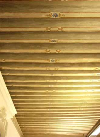 Villa Simion: soffitto dell'atrio al piano terra