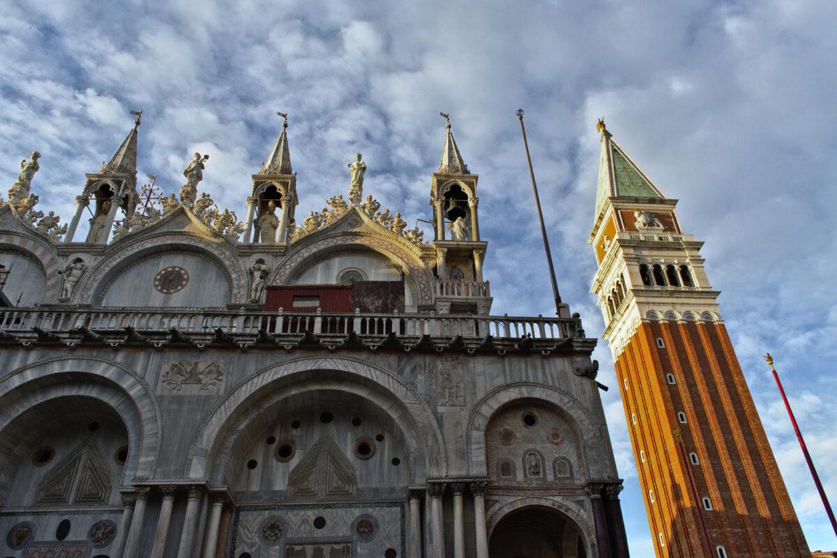 Scorcio della Basilica di San Marco e Campanile